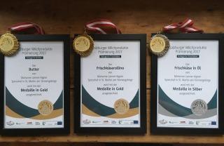 2x Gold und 1x Silber bei der Salzburger Milchprodukteprämierung 2017